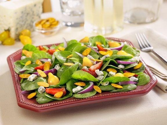 Fruchtiger Spinatsalat