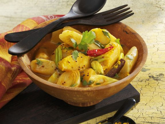 Fruchtiges Schwarzwurzel-Curry