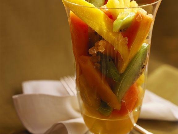 Fruchtsalat mit Wodka