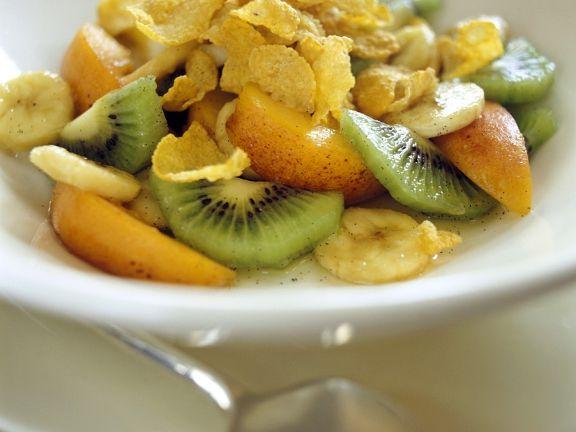 Früchte mit Cornflakes