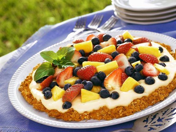 Früchte-Tarte mit Knusperboden