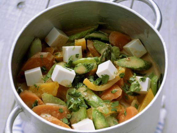 Frühlingsgemüse-Curry mit Tofu