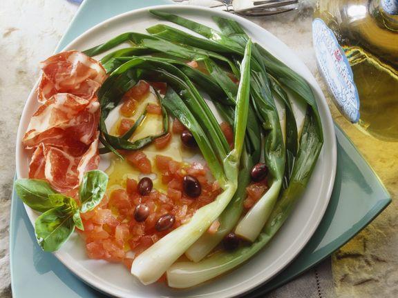 Frühlingszwiebel-Tomatensalat