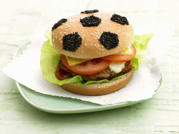 Fußball-Hamburger