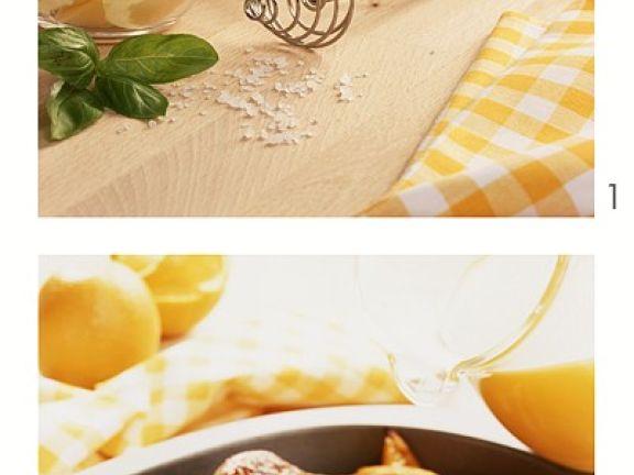 Gans mit Orangensauce
