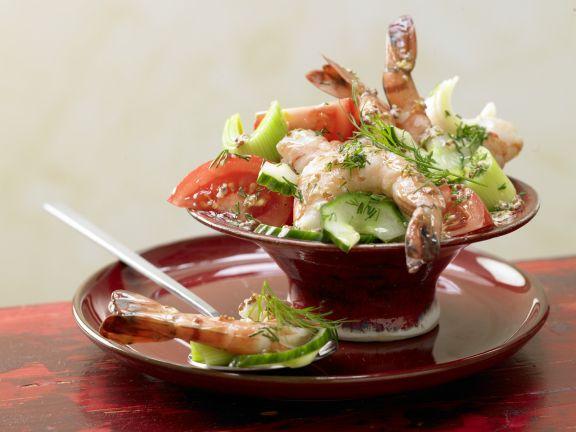 Garnelen-Gemüse-Salat