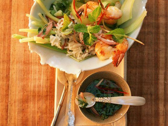 Garnelen mit Reissalat