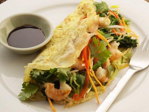 Garnelen-Omelette