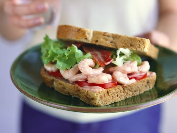 Garnelen-Sandwich