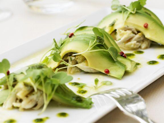 Garnelenfleisch mit Avocado