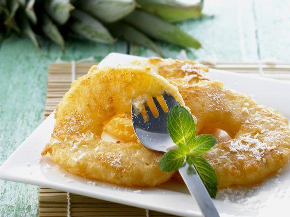 Gebackene Ananas auf chinesische Art