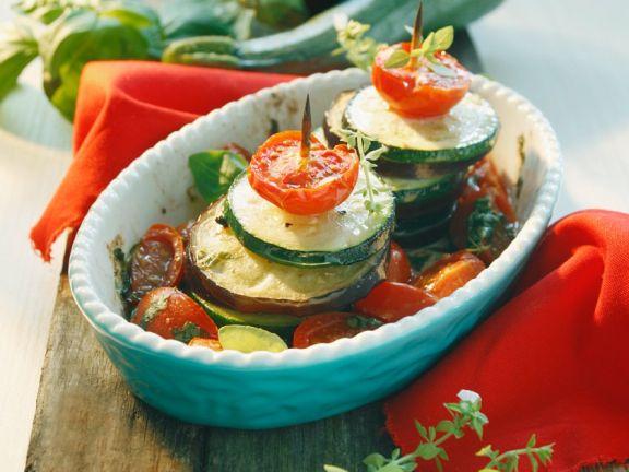 Gebackene Gemüse-Spieße