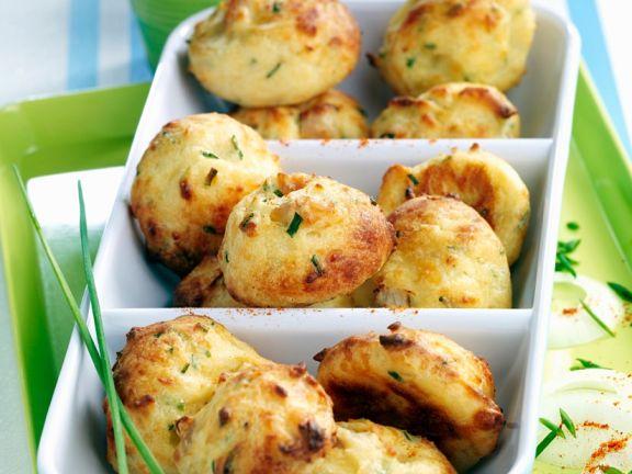 Gebackene Kartoffellbällchen