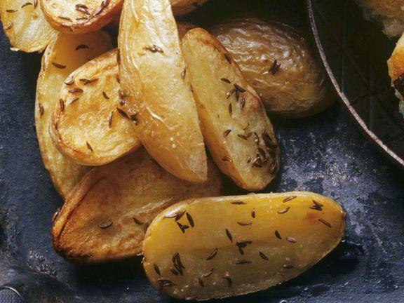 Gebackene Kartoffeln mit Kümmel