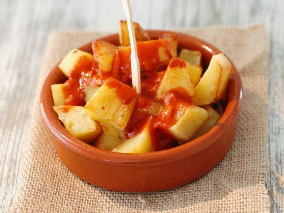 Gebackene Kartoffeln mit Paprikasauce