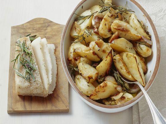 gebackene Kartoffeln mit Speck