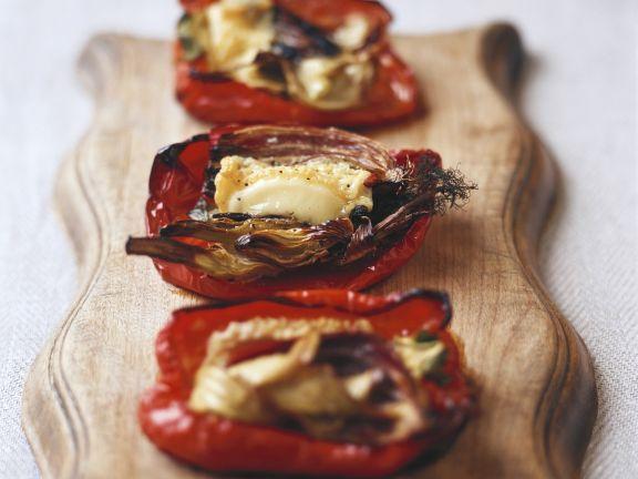 Gebackene Paprika mit Ziegenkäse