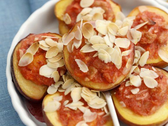 Gebackene Pfirsiche