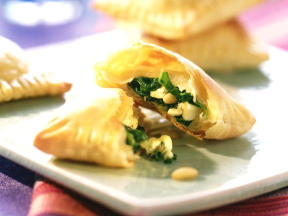 Gebackene Spinat-Feta-Ravioli