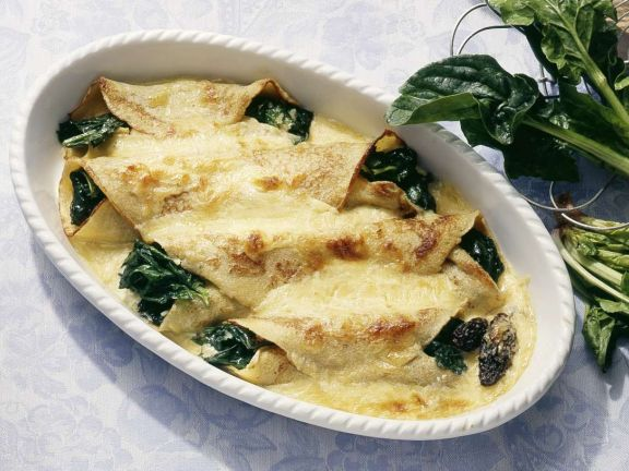 Gebackene Spinat-Pfannkuchen