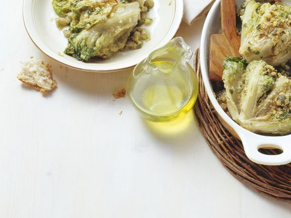Gebackener, gefüllter Salat