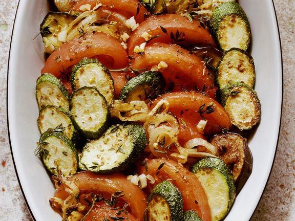 Gebackener Reis mit Gemüse