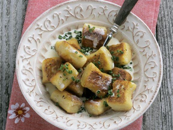 Gebratene Kartoffelnockerl
