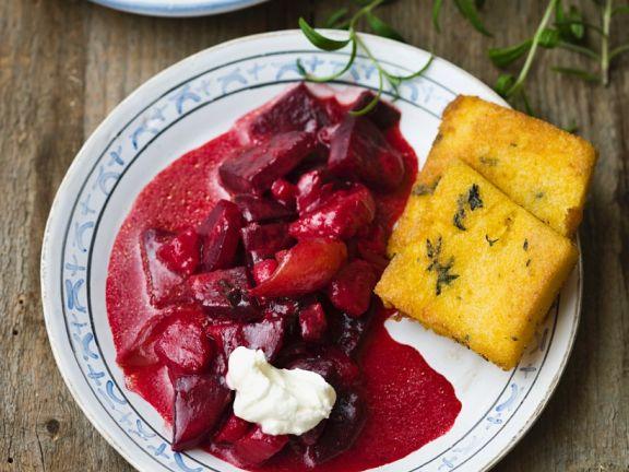 Gebratene Polenta Mit Roter Bete Rezept Eat Smarter