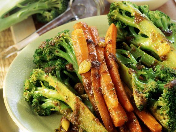 Gebratener Brokkoli mit Parmesan-Sahne-Creme
