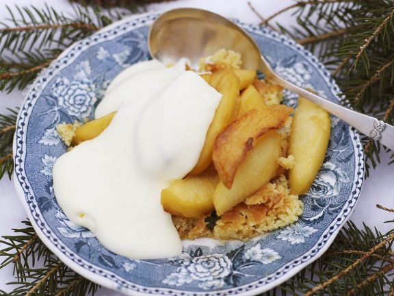 Gebratener Couscous mit Äpfeln