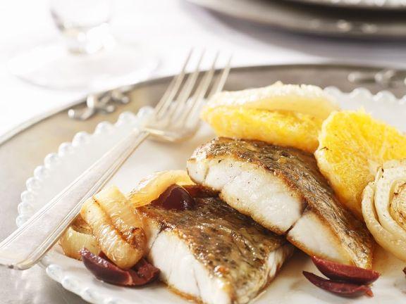 Gebratener Fisch mit Fenchel