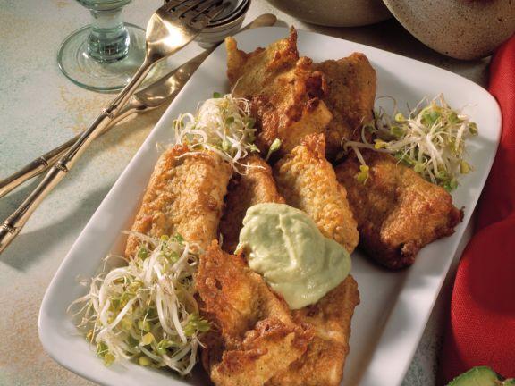 Gebratener Tofu mit Avocadocreme