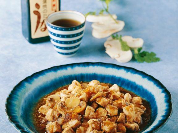 Gebratenes Hähnchen mit Champignons aus dem Wok Rezept | EAT SMARTER