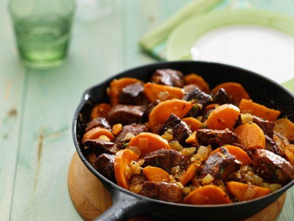 Sommergerichte Mit Schweinefleisch : Gebratenes schweinefleisch mit süßkartoffeln rezept eat smarter