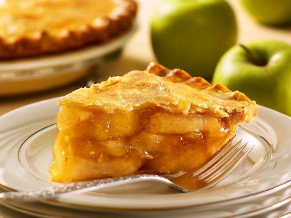 Gedeckter Apfelkuchen ohne Ei