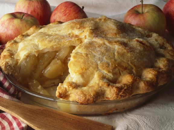 Gedeckter Apfelkuchen vegan