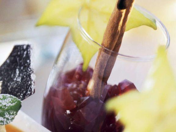 Geeeister Portweinschaum auf Melonenpüree
