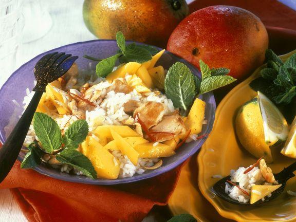 Geflügel-Reissalat mit Mango