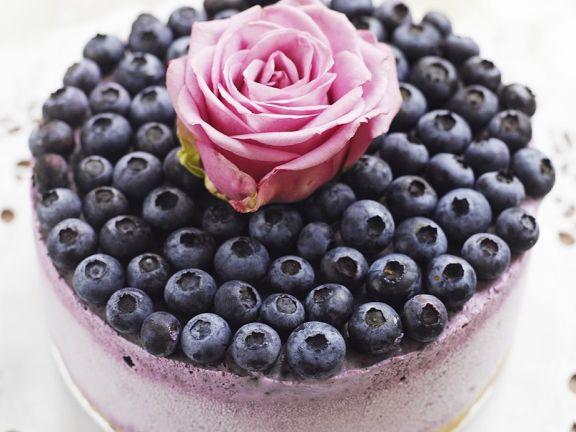 Gefrorener Cheesecake mit Blaubeeren