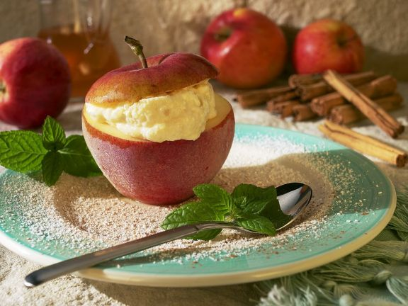 Gefrosteter Joghurt-Apfel