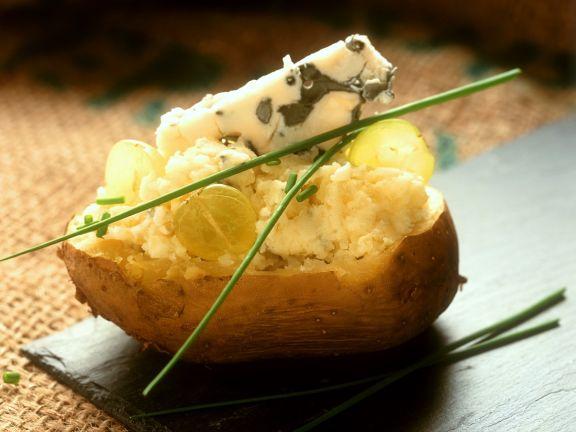 Gefüllte Kartoffeln mit Käse
