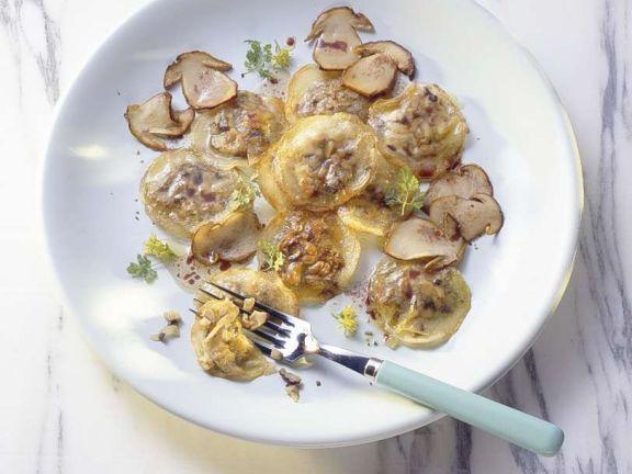 Gefüllte Kartoffelnudeln mit Steinpilzen