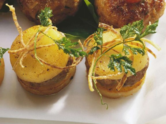 Gefüllte Kartoffelscheiben