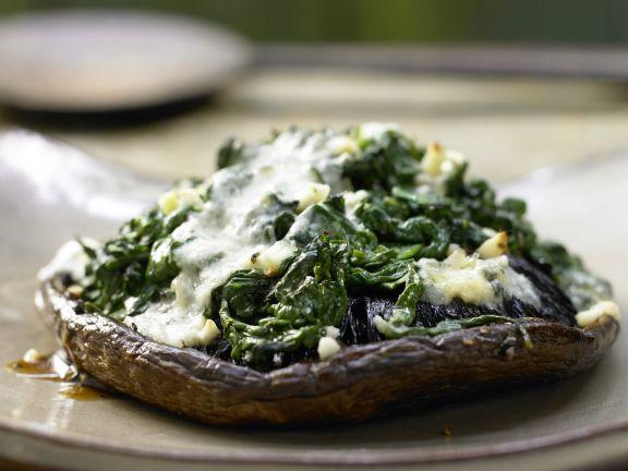 Gefüllte Portobello-Pilze