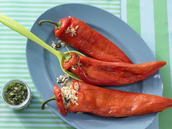 Gefüllte Spitzpaprika mit Reis