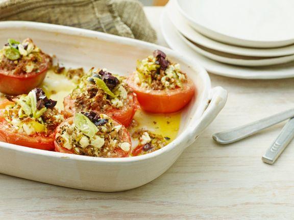 Gefüllte Tomaten mit Feta und Frühlingszwiebeln