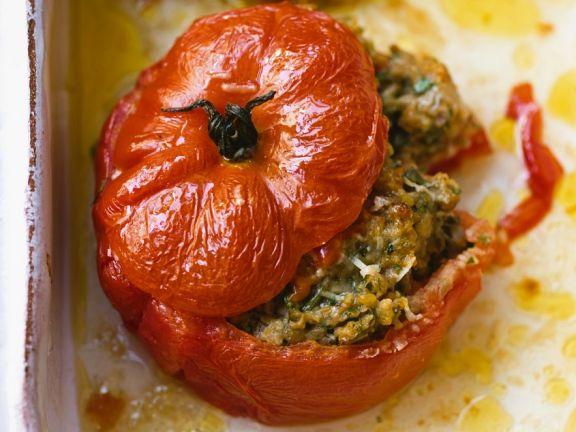 Gefüllte Tomaten mit Linsen