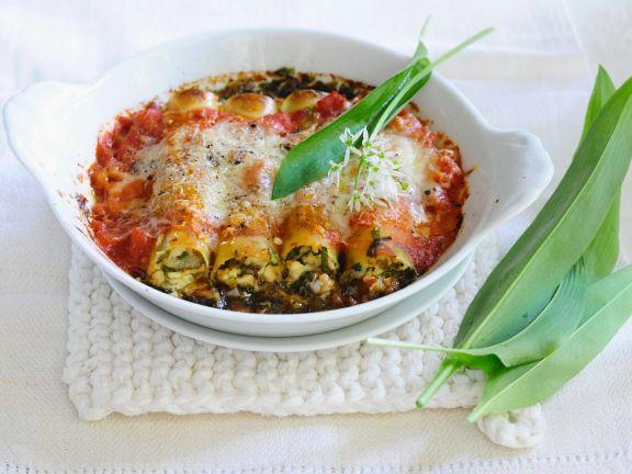 Gefüllte, überbackene Cannelloni