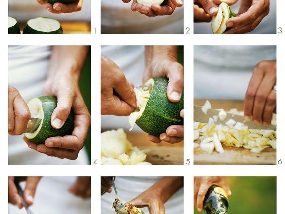 Gefüllte Zucchini zubereiten