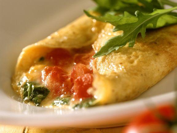 Gefülltes Omelette